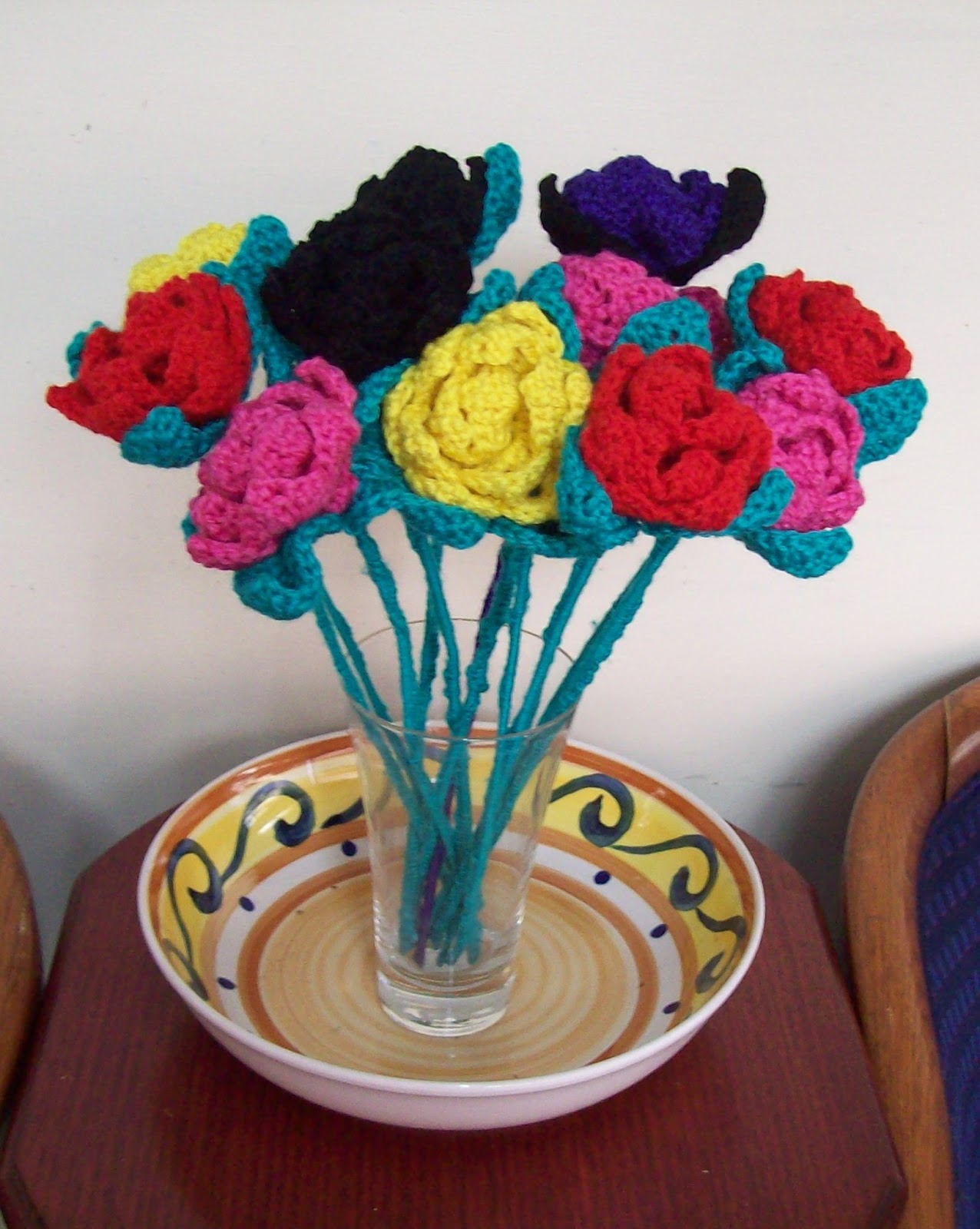 Free crochet patterns by cats rockin crochet how to add a stem to a crochet flower izmirmasajfo