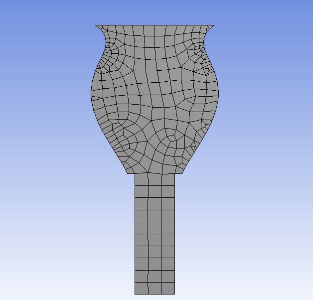 Default Ansys mesh