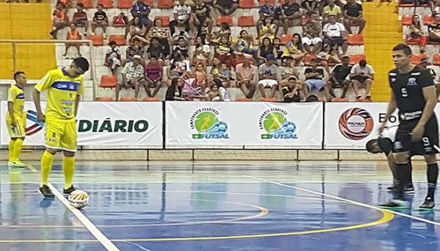 Goleiro brilha e o Horizonte vence o Grêmio Recreativo pelo Cearense de Futsal.