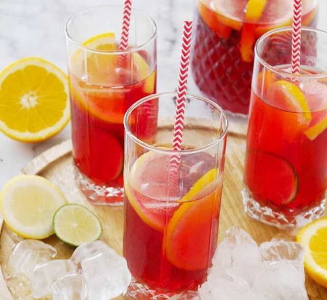 Flavorful and Thirst Quenching Hibiscus Iced Tea and Some Amazing DIYs for Summer