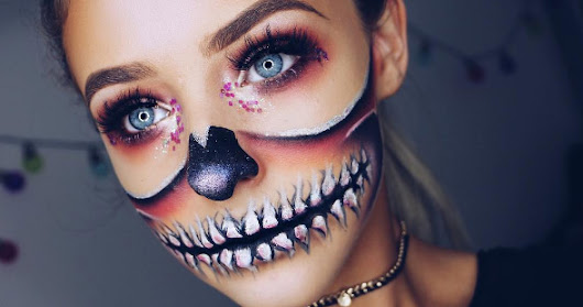 Glam half skull inspied by Glitteralittle