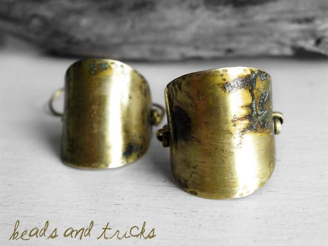 orecchini ottone turchese patina