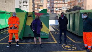Il nuovo punto eco mobile realizzato da Dusty e Comune di Catania