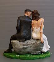 sposini personalizzato per matrimonio modellino realistico statuine orme magiche
