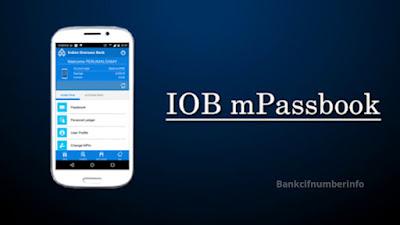 Get IOB Mini Statement Online by mPassbook app
