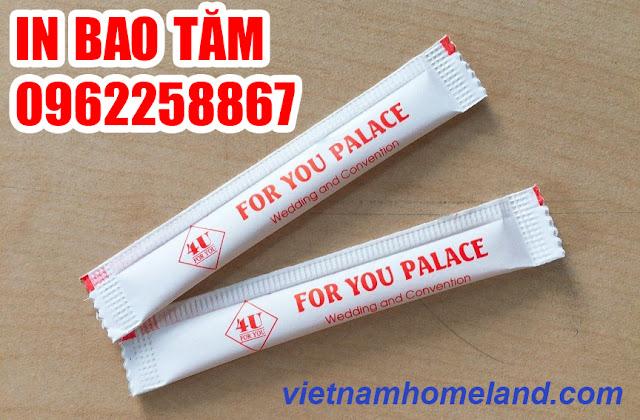 Sản xuất và in bao tăm giá rẻ tại Hồ Chí Minh