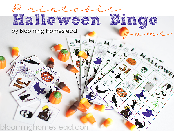 photo relating to Printable Halloween Bingo referred to as Halloween Bingo Sport Printable - Blooming Homestead