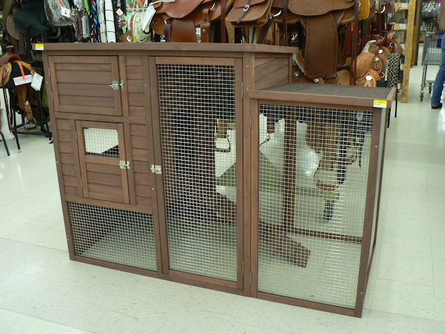 chicken coop at the store