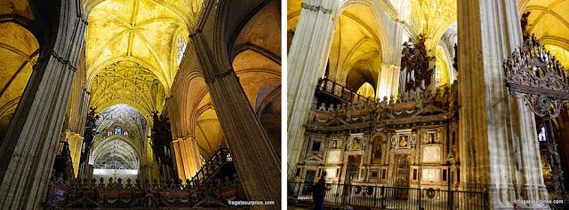 Detalhes da decoração da Catedral de Sevilha
