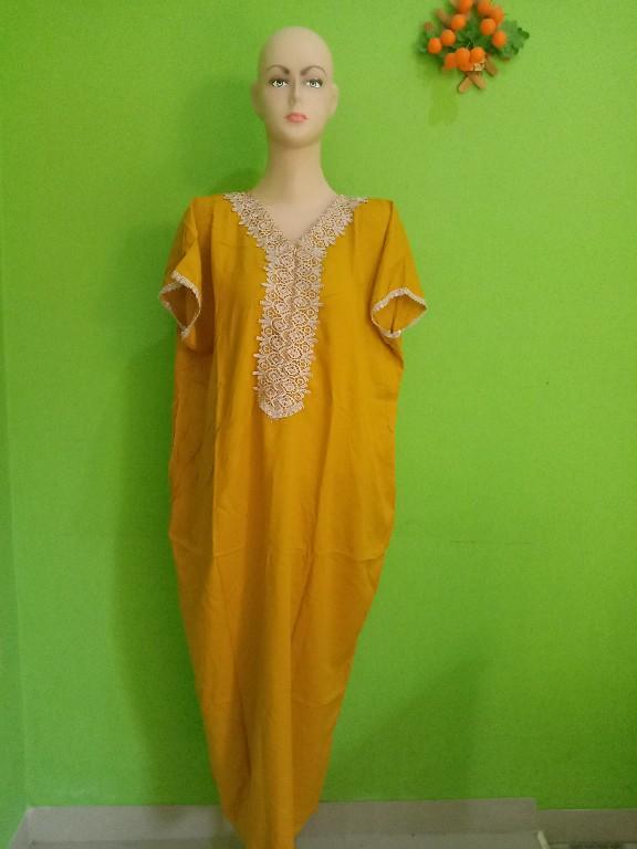 Jual Daster Arabian Lengan Pendek Terbaru Warna Kuning