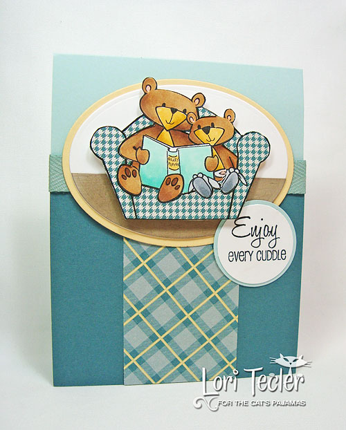 Enjoy Every Cuddle card-designed by Lori Tecler/Inking Aloud-stamps from The Cat's Pajamas