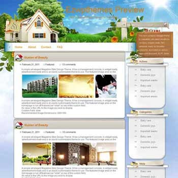 Real Estate blogger template. free blogspot template download. tech blog blogger template