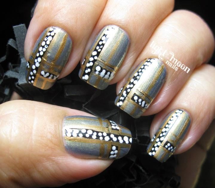 light of the moon nails art deco nail art. Black Bedroom Furniture Sets. Home Design Ideas