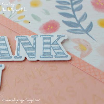 close-up of clear embossing on card 2
