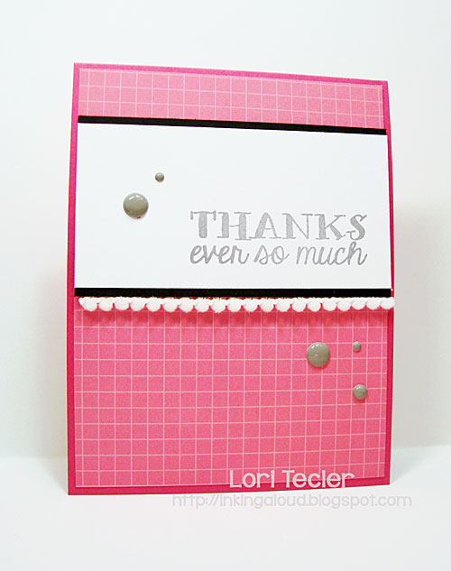 Thanks Ever So Much card-designed by Lori Tecler/Inking Aloud-stamps from Avery Elle