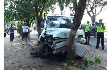 Kecelakaan Beruntun Magetan, Grandmax Seret Scoopy Terhenti Setelah Tabrak Pohon