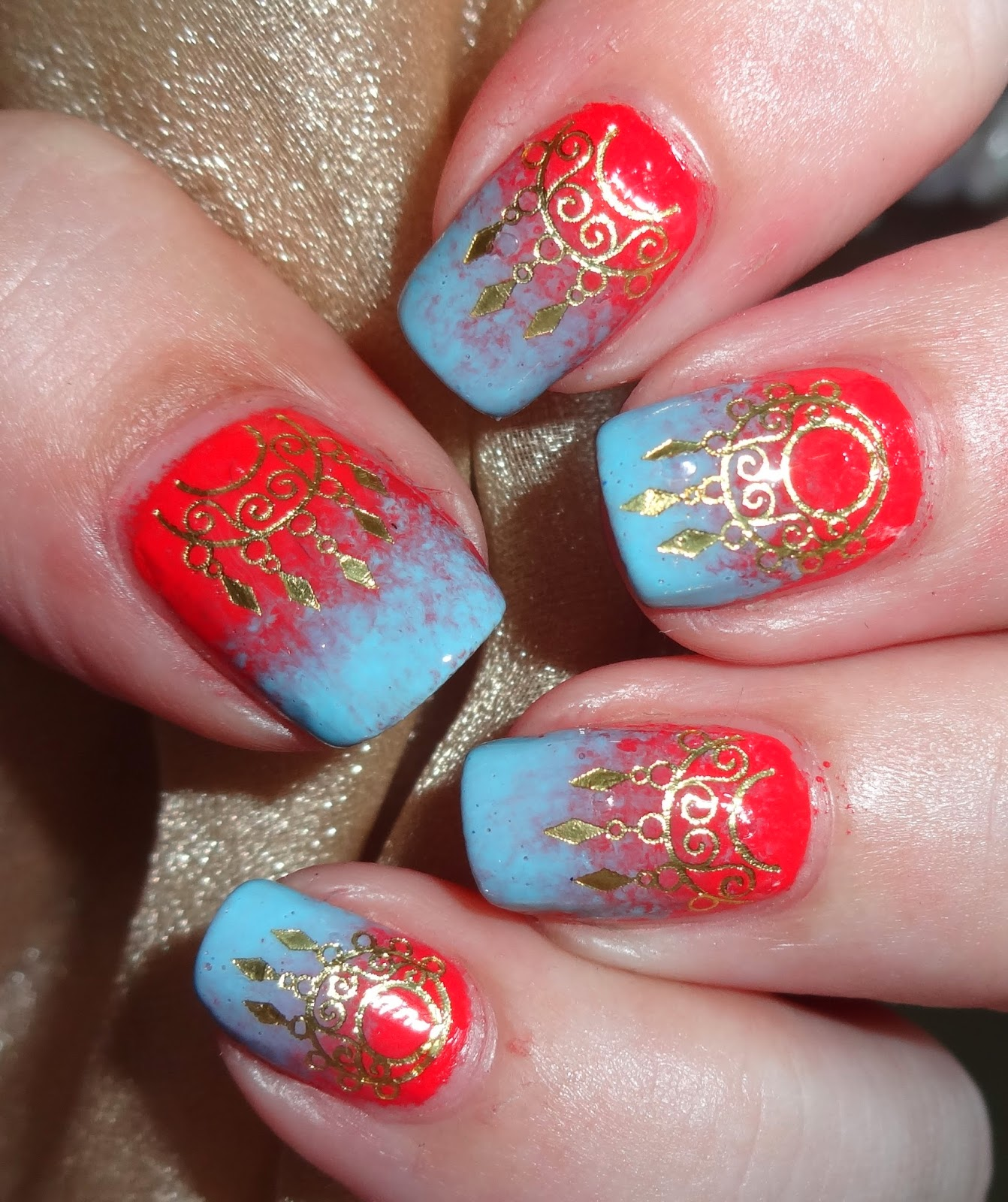 Wendy's Delights: Sparkly Nails Indian Glamour Gold Nail