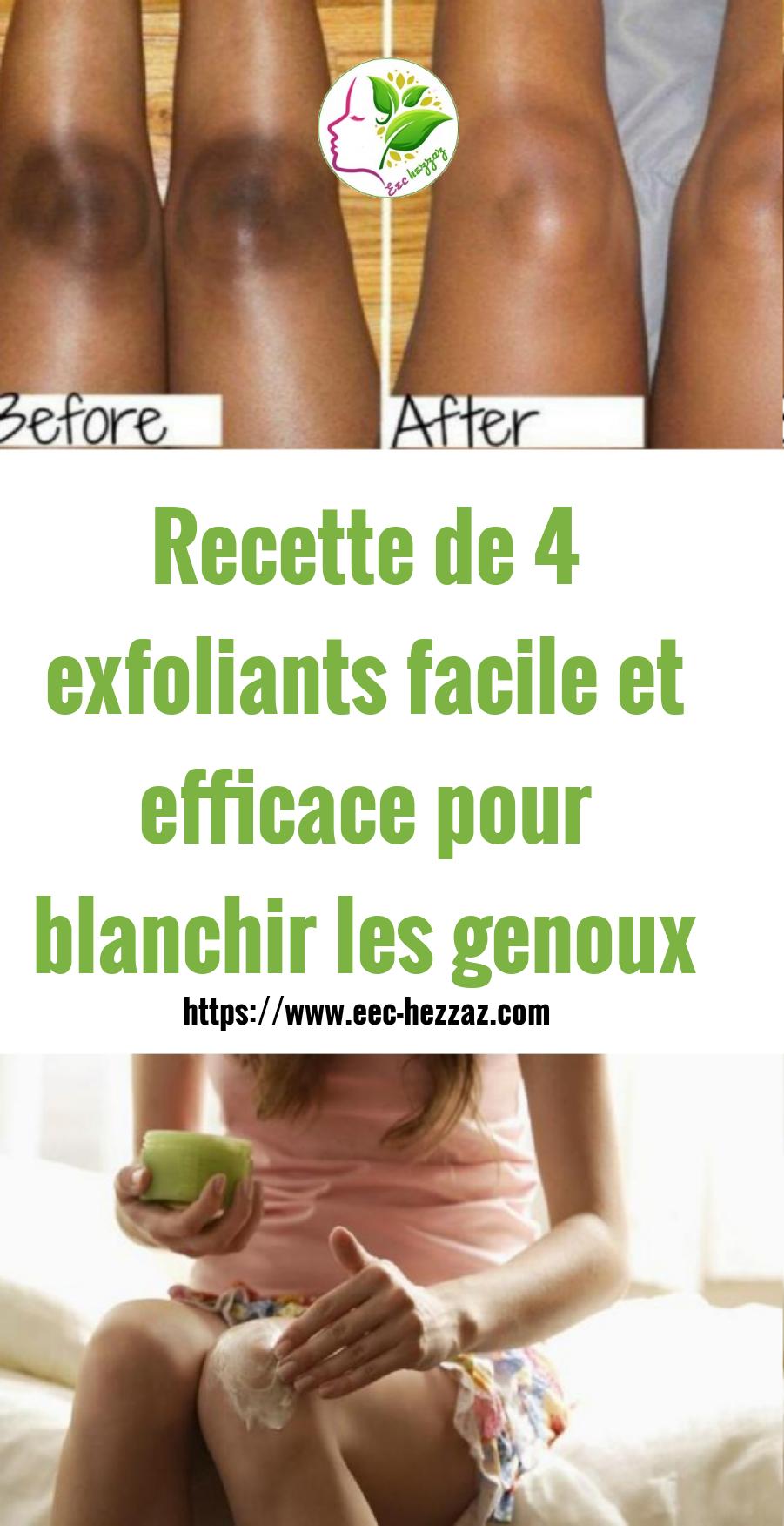 Recette de 4 exfoliants facile et efficace pour blanchir les genoux