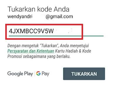 Redem Kode Google Play