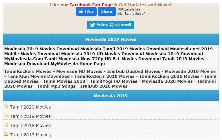 Tamilrockers Isaimini Moviesda 2021 Tamil Movies