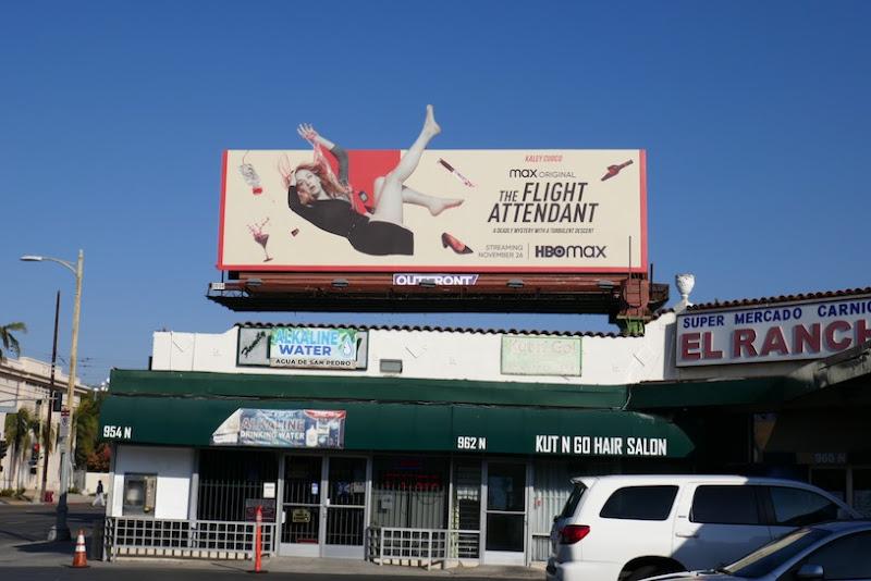 Flight Attendant TV series billboard