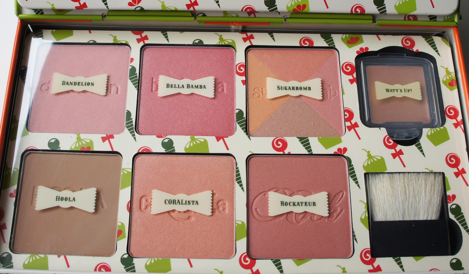 benefit,hoola,rockateur,coralista,bellabamba,watts up,dandelion,sugarbomb