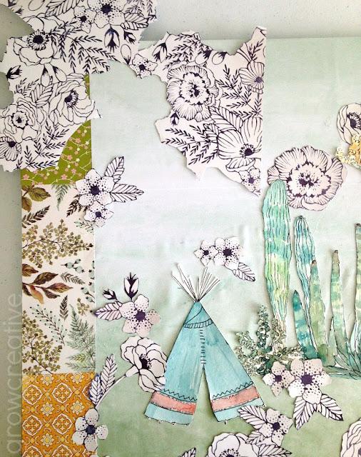 paper art collage: growcreativeblog