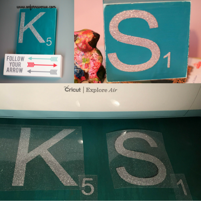 easy scrabble letters made using the cricut