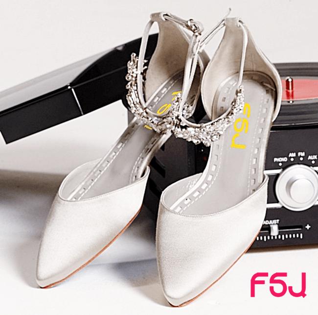 Sapato de casamento estilo sapatilha