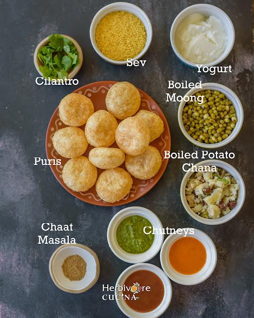 Ingredients for Dahi Batata Puri