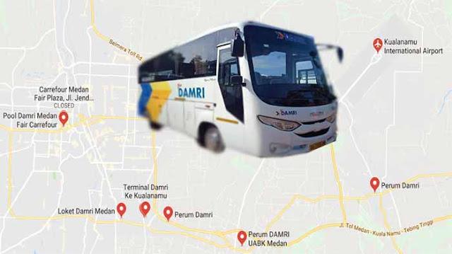 Damri Medan: Rute, Pool, Jadwal, Harga Tiket & Nomor Telepon