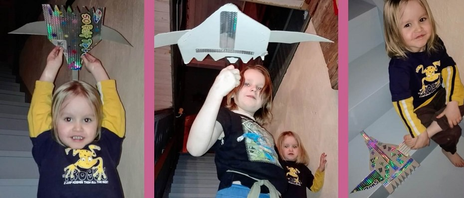 Askarteluohje kartonkinen lentokone