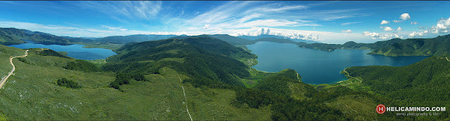 Foto Udara Danau Anggi Giji dan Anggi Gida Pegunungan Arfak