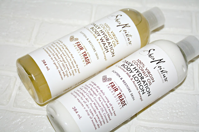 Shea Moisture Daily Hydration Body Wash and Lotion