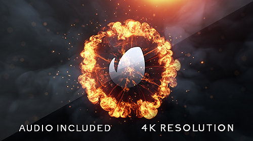 Flame Logo Animation After Effect Template 4k Resolution
