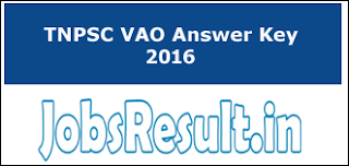 TNPSC VAO Answer Key 2016