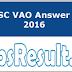 TNPSC VAO Answer Key 2016 Download VAO Ans Sheet