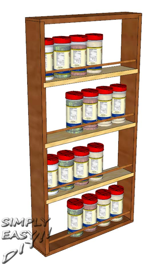 DIY Inside Cabinet Door Spice Rack