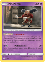 TCG Mr. Mime Detetive Pikachu