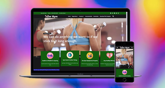 max gym blogger template