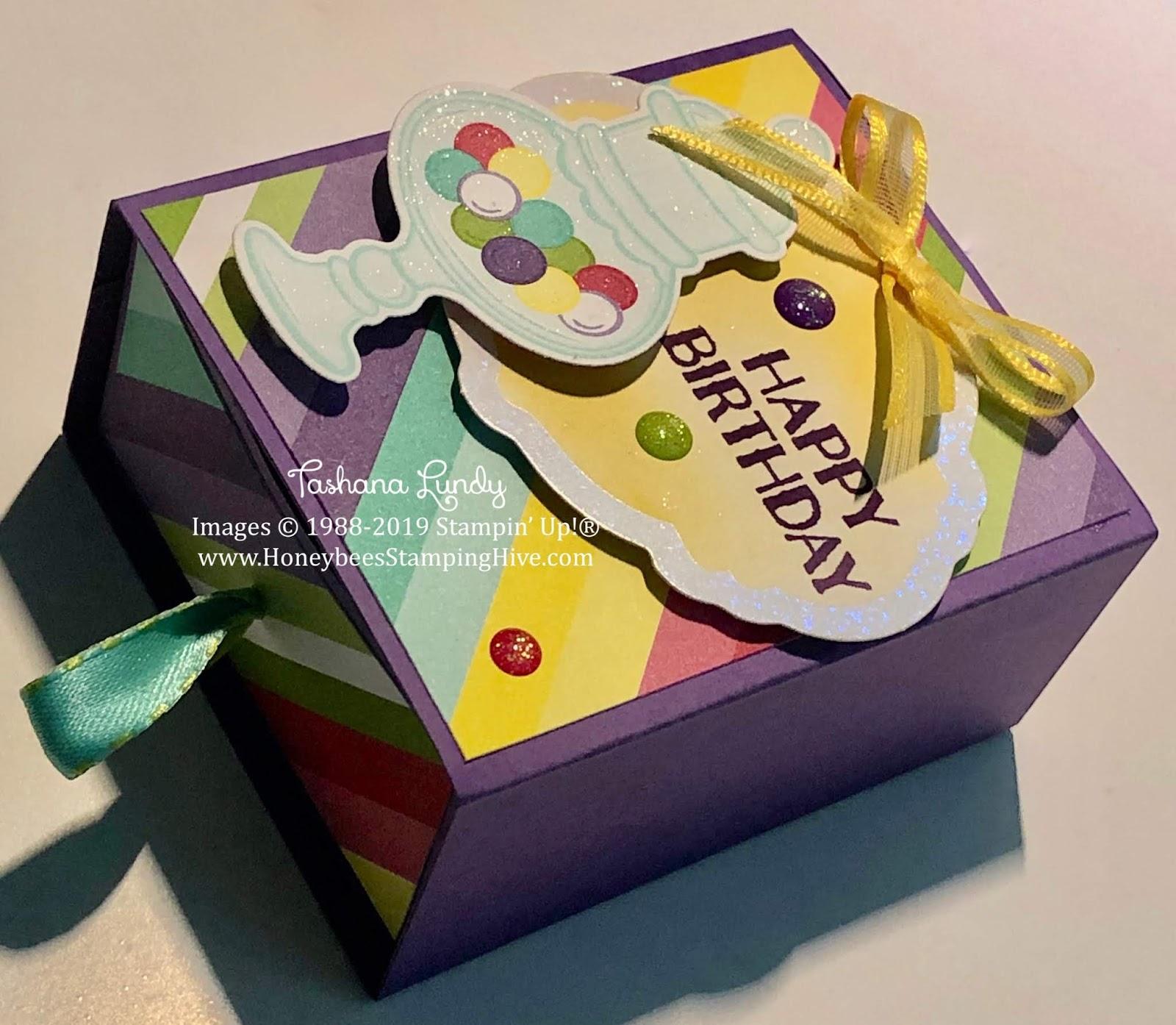 Honeybee's Stamping Hive: Sweetest Thing Birthday Cake Box