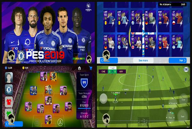 Anda jangan lupa untuk Unduh juga file  Download PES 19 Mobile V3.3.1 Mod CHELSEA FC Update Season 2019/2020