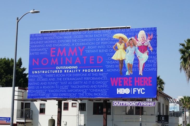 We're Here season 1 Emmy nominee billboard