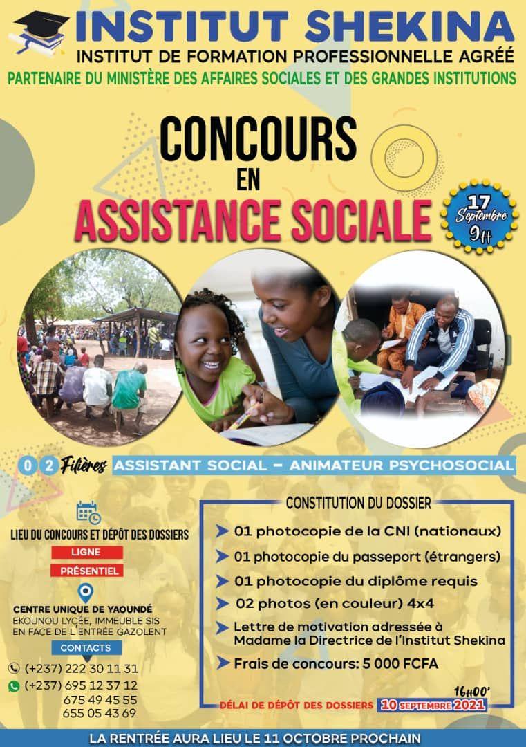 Avis de concours: Assistant social - Institut Shekina