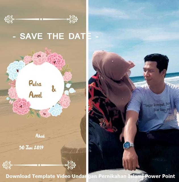 Download Template Video Undangan Pernikahan Islami Power Point