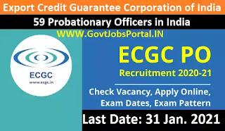 ECGC PO Notification 2021