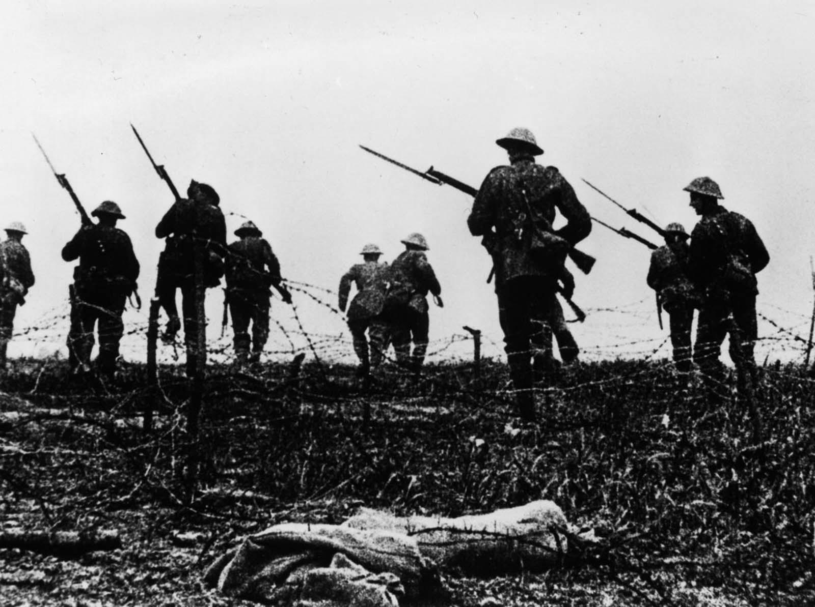 Las tropas británicas van