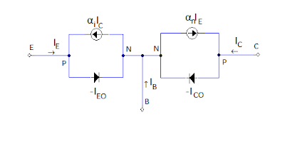 Ebers moll model pnp circuit