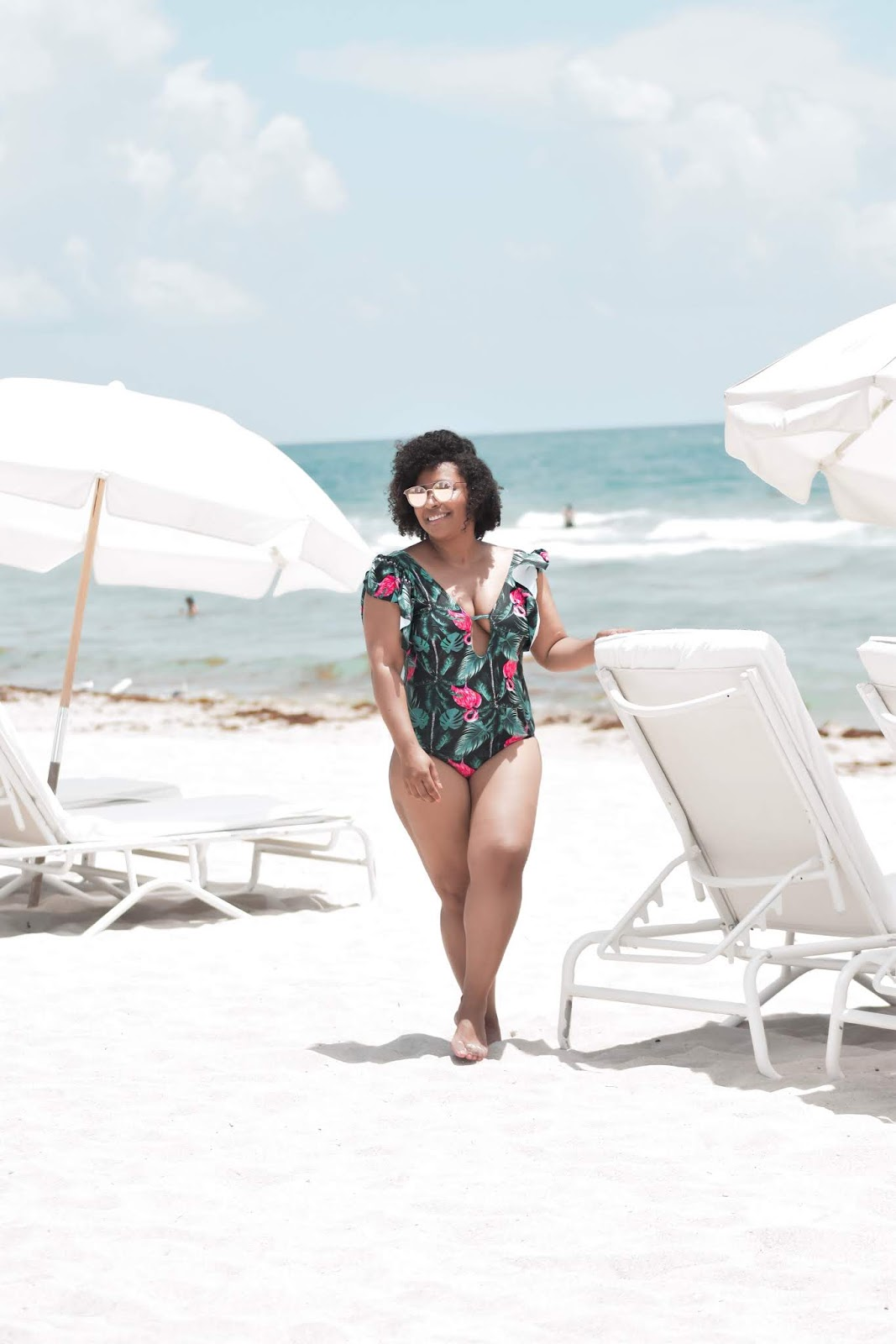 Amiclubwear, trendy bathing suit, miami beach, south beach, one piece bathing suit, postpartum body.