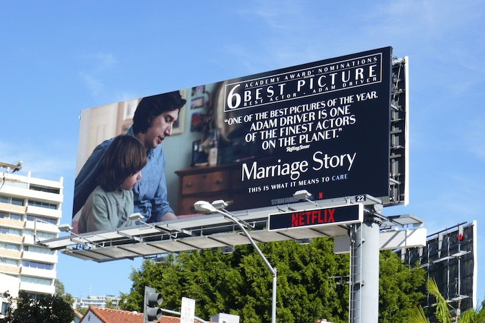 Marriage Story Adam Driver Oscar billboard